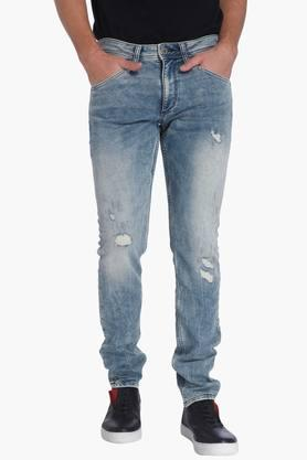 JACK AND JONES Mens Slim Fit 5 Pocket Stone Wash Jeans  ...