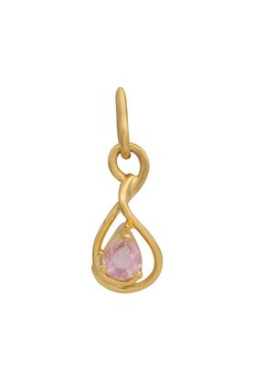 Womens Yellow Gold,Pink Sappire Pendant CLTD15100007