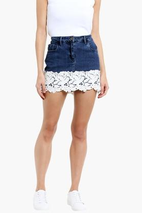 LOVEGEN Womens Lacy Mini Skirt  ... - 202287828