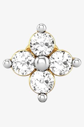 VELVETCASEWomens 18 Karat Yellow Gold Nose Ring (Free Diamond Pendant) - 201065063