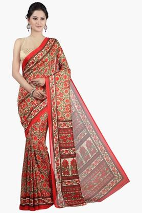 JASHN Womens Printed Tassar Silk Saree - 201620472