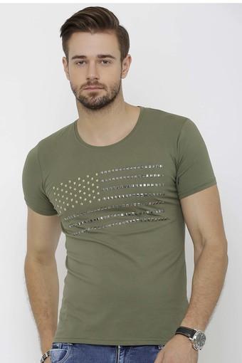 REX STRAUT JEANS -  OliveT-shirts - Main