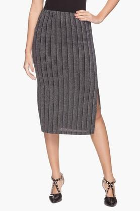 MSTAKEN Womens Striped Skirt