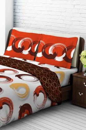 TANGERINE Tangy Orange Cotton Double 1 Pc Comforter - Orange