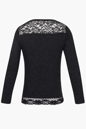 Girls Lace-detailed T-shirt