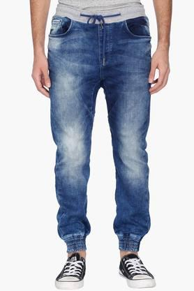 BEING HUMANMens Joggers Fit Stone Wash Jeans (Joggers Fit)