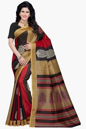 Women Bhagalpuri Art Silk Printed Saree