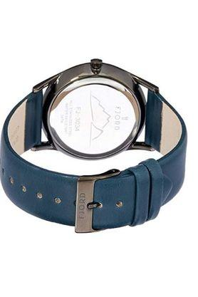 Mens Grey Dial Leather Analogue Watch - 414307