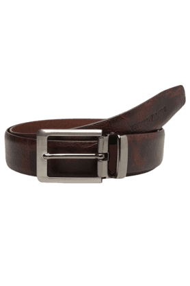 VETTORIO FRATINI Mens Chocolate Leather Formal Belt