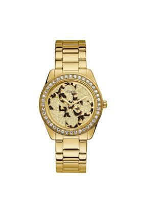 Womens G Twist Gold Dial Stainless Steel Analogue Watch - W1201L2