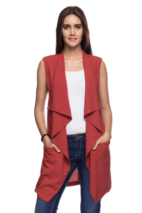 FEMINA FLAUNT Women Sleeveless Casual Jacket
