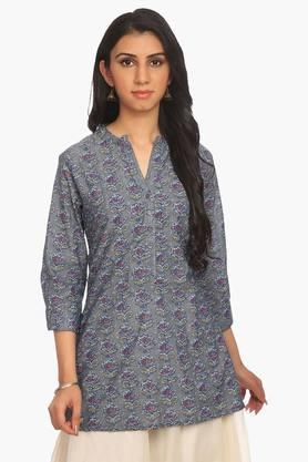 BIBA Women Cotton Straight Kurta