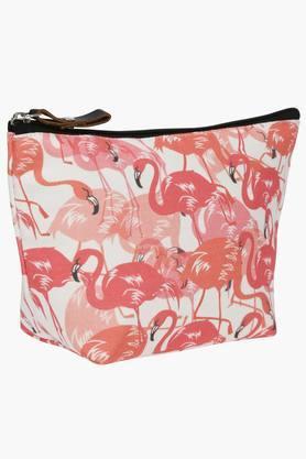 Unisex Flamingos Print Pouch