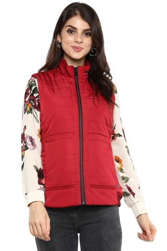 Womens Zip Through Neck Quilted Jacket