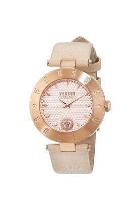 Womens Pink Dial Leather Analogue Watch - S771740017