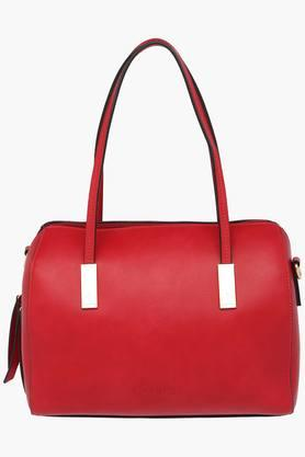 CAPRESE Womens Victoria Leather Zipper Closure Shoulder Bag