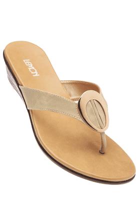 LEMON & PEPPERWomens Beige Toned Wedge Sandal