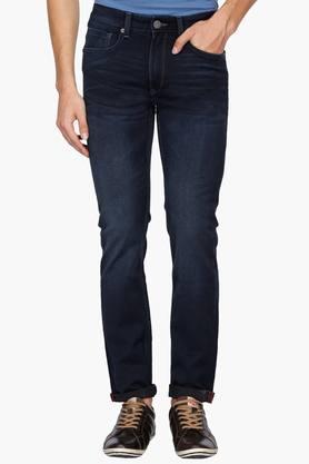 LOUIS PHILIPPE JEANSMens 5 Pocket Slim Fit Mild Wash Jeans (Matt Fit)