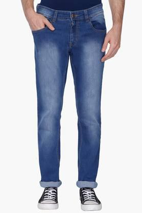 RS BY ROCKY STAR Mens 5 Pocket Mild Wash Jeans