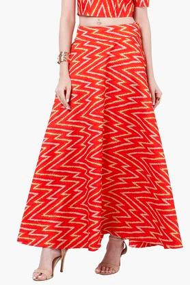 INDYA Womens Printed Maxi Skirt - 201845617
