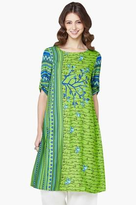GLOBAL DESI Women Floral Printed Kurta