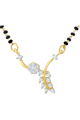 MAHI Gold Plated Mangalsutra Pendant With CZ For Women PS1191487G
