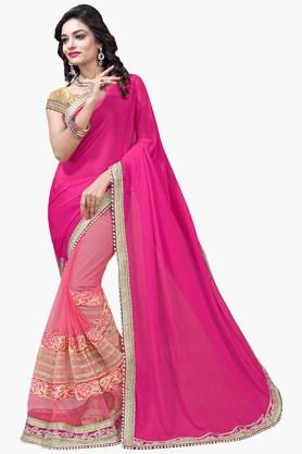 DEMARCA Womens Georgette And Net Designer Saree  ... - 202338186