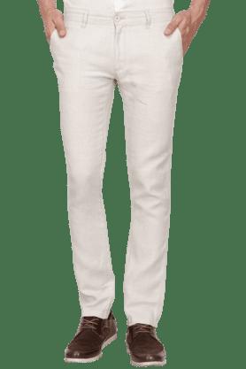 CELIOMens Slim Fit Solid Chinos