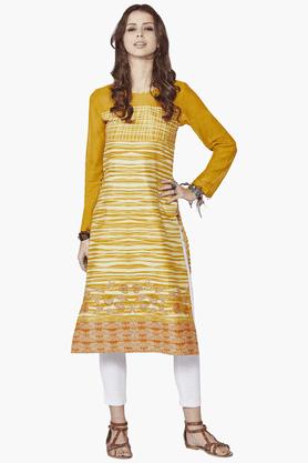 GLOBAL DESIWomens Slim Fit Printed Kurta - 201213976