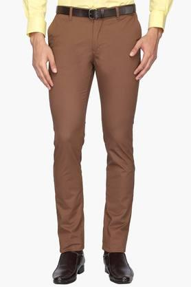 INDIAN TERRAIN Mens 5 Pocket Skinny Fit Solid Trousers (Kruger Fit)