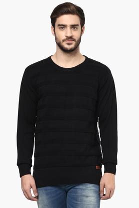 WROGN Mens Slim Fit Stripe Sweater