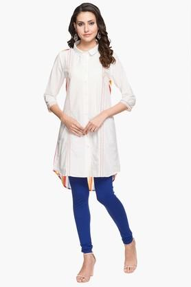 STOP Womens Collared Stripe Shirt Kurta