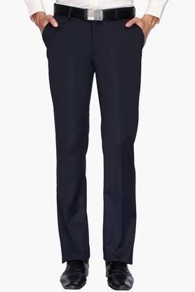 BLACKBERRYSMens 4 Pocket Regular Fit Solid Formal Trousers - 202123825