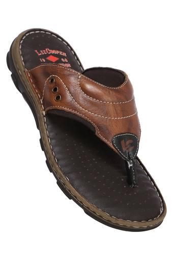 LEE COOPER -  Tan Slippers & Flip Flops - Main
