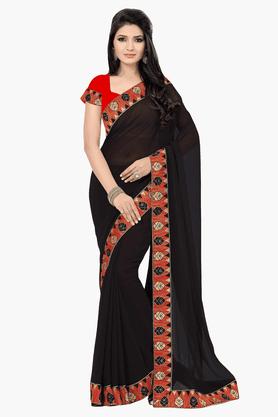 DEMARCAWomens Embroidered Saree