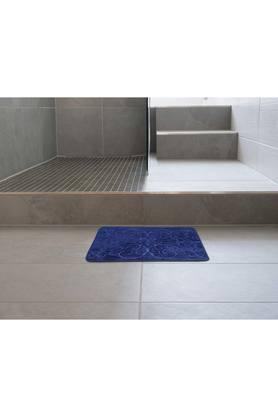 Rectangular Solid Memory Foam Damask Bath Mat
