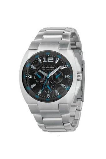 Mens Black Dial Stainless Steel Multi-Function Watch - BQ9307
