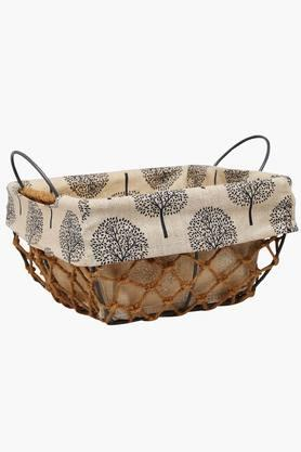 BACK TO EARTH Square Taper Jute Basket