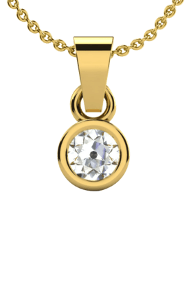 SPARKLESHis & Her Collection 18 Kt Solitaires Pendant In Gold & Real Diamond HHP6241