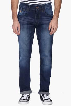 U.S. POLO ASSN. DENIMMens Straight Fit Mild Wash Jeans (Woody Fit)