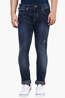 LOUIS PHILIPPE JEANS Mens Slim Fit Mild Wash Jeans (Matt Fit) - 201293973