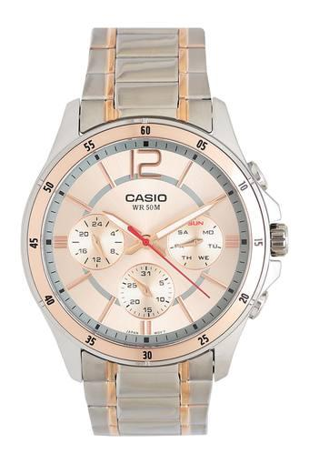 Mens Rose Gold Dial Multi-Function Watch - A1651