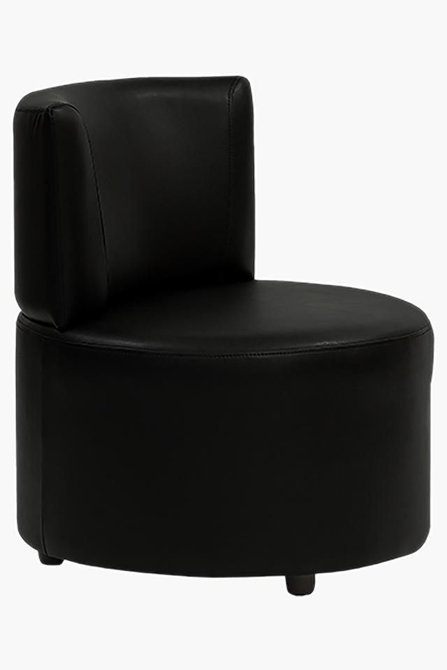 Tarmac Black Leatherette Modular Sofa (Seater)