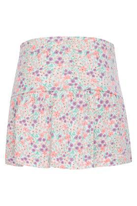 Girls Floral Printed Skirt