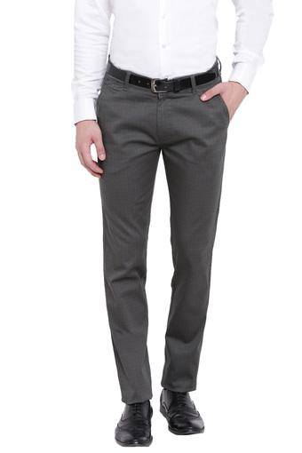 Mens Slim Fit Checked Formal Trousers