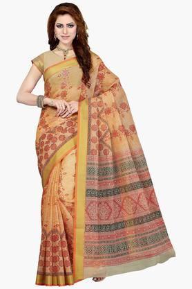 DEMARCAWomen Cotton Blend Designer Saree