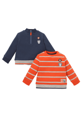 MOTHERCARE Boys Cotton Printed Sweatshirt - Pack Of 2