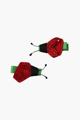 Girls Printed Lady Bug Hair Clips (2 Years+)