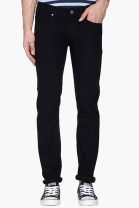 LOUIS PHILIPPE JEANS Mens Slim Fit Coated Jeans (Matt Fit)