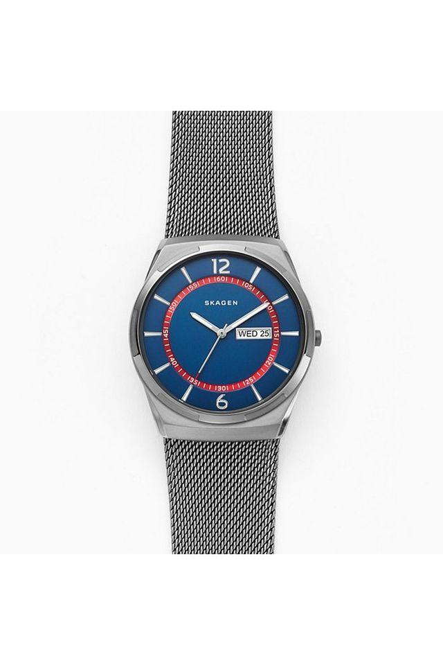 Mens Blue Dial Metallic Analogue Watch - SKW6503